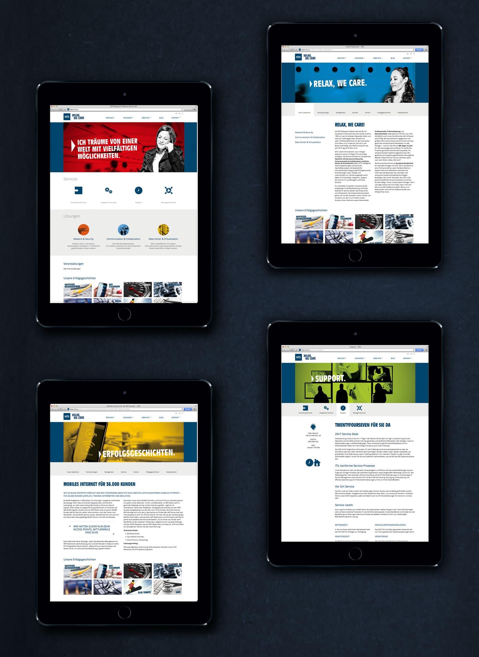 Webansicht 02 – NTS Website von Agentur Kufferath Graz