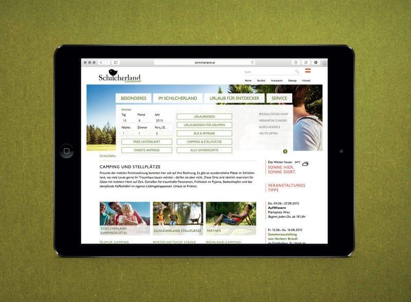 Webdesign für die Region Schilcherland von Kufferath